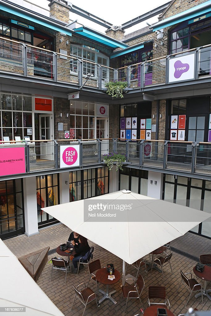General View of 'Fas tag' in Kingly Court, Carnaby Street on April 18, 2013 in London, England.