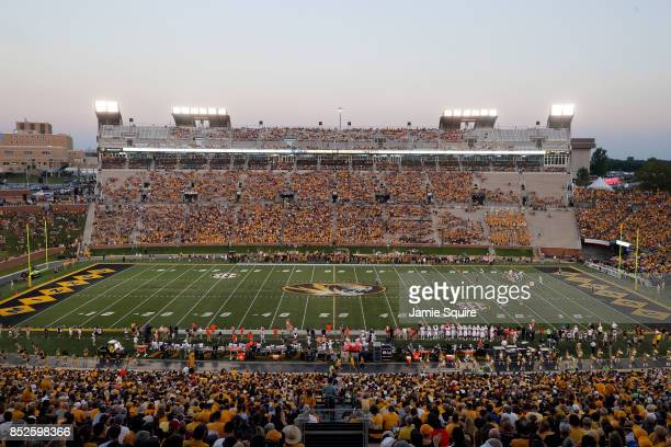 A general view of Faurot Field/Memorial Stadium during the game between the Auburn Tigers and the Missouri Tigers on September 23 2017 in Columbia...