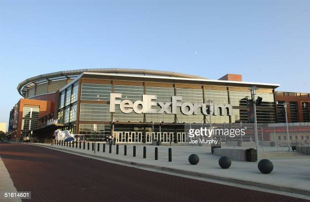 General view of FedEx Forum during the preseason game between the Milwaukee Bucks and the Memphis Grizzlies on October 21 2004 in Memphis Tennessee...