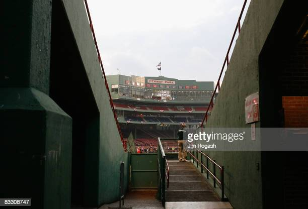General view of Fenway Park before game five of the American League Championship Series between the Boston Red Sox and the Tampa Bay Rays during the...