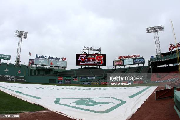 A general view of Fenway Park before the start of a regular season college baseball game commemorating ALS Awareness between the North Carolina State...