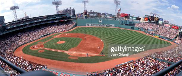 General view of Fenway Park during the American League game between the Boston Red Sox and the New York Yankees at Fenway Park on July 25 2003 in...