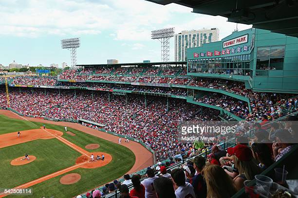 A general view of Fenway Park during the fifth inning of the game between the Boston Red Sox and the Chicago White Sox at Fenway Park on June 23 2016...