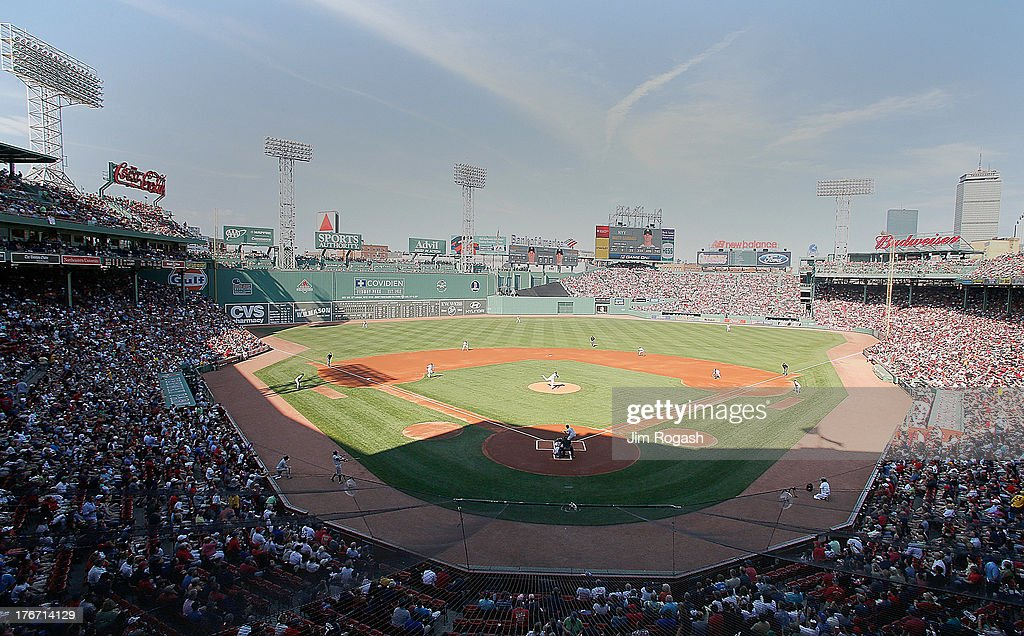 A general view of Fenway Park in the 1st inning of a game between the New York Yankees and Boston Red Sox on August 17, 2013 in Boston, Massachusetts.