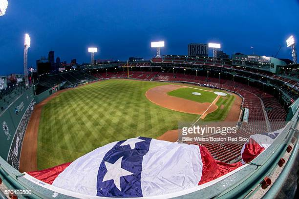 General view of Fenway Park is shown on March 7 2016 in Boston Massachusetts