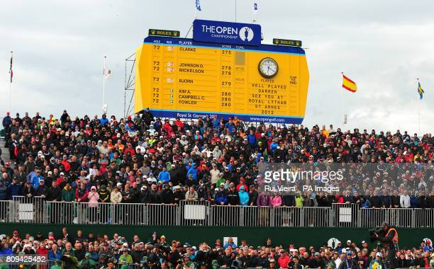 General view of final score board after round four of the 2011 Open Championship at Royal St George's Sandwich