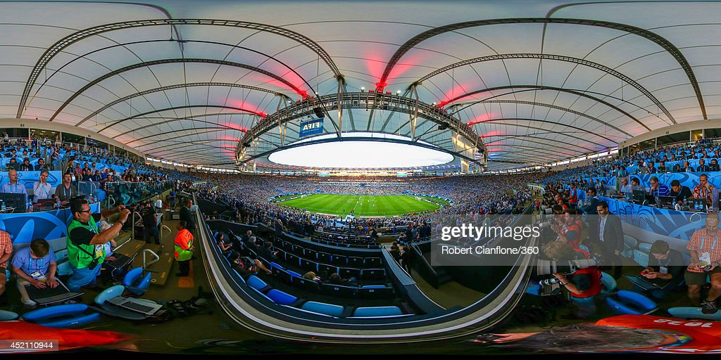 A general view of first half action during the 2014 FIFA World Cup Brazil final between Germany and Argentina at Maracana on July 13, 2014 in Rio de Janeiro, Brazil.