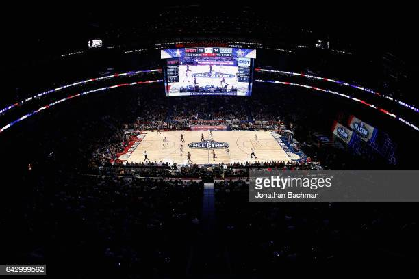 A general view of first half action during the 2017 NBA AllStar Game between the Eastern Conference AllStars and the Western Conference AllStars at...