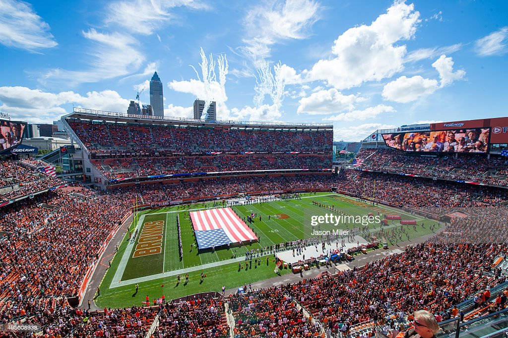 A general view of FirstEnergy Stadium prior to the game between the Cleveland Browns and the Tennessee Titans at FirstEnergy Stadium on September 20, 2015 in Cleveland, Ohio.