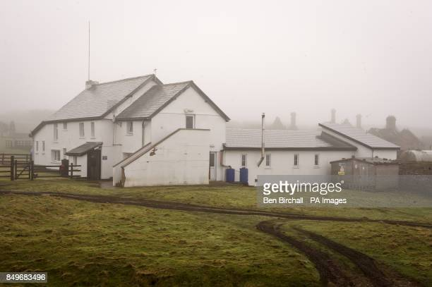 A general view of Flat Holm Farmhouse where the wardens and volunteers live on Flat Holm island in the Bristol Channel Flat Holm is a limestone...