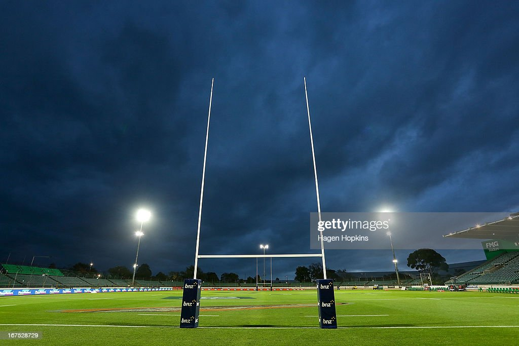A general view of FMG Stadium prior to the round 11 Super Rugby match between the Hurricanes and the Stormers at FMG Stadium on April 26, 2013 in Palmerston North, New Zealand.