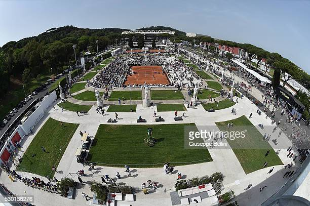 General view of Foro Italico during day three of The Internazionali BNL d'Italia 2016 on May 10 2016 in Rome Italy