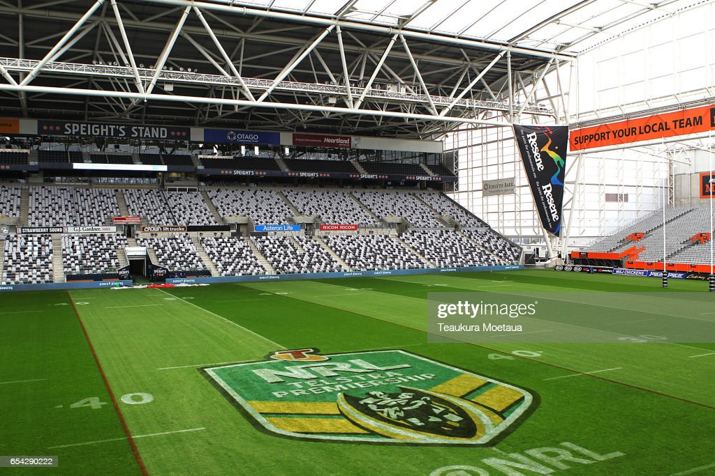General view of Forsyth Barr Stadium before the round three NRL match between the Bulldogs and the Warriors on March 17, 2017 in Dunedin, New Zealand.