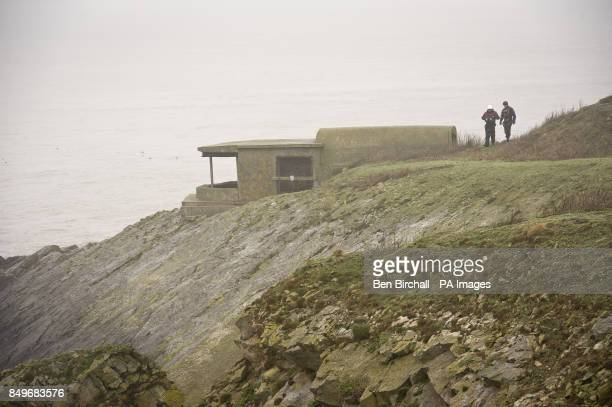 A general view of fortifications on Flat Holm island in the Bristol Channel Flat Holm is a limestone island in the Bristol Channel approximately 6 km...