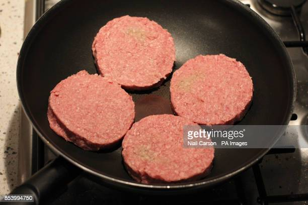 General view of four beef burgers Picture date Wednesday January 16 2013The Food Safety Authority of Ireland found low levels of horse in beef...