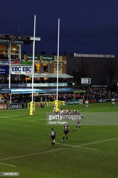General view of Franklin's Gardens during the Aviva Premiership match between Northampton Saints and Bath at Franklin's Gardens on December 24 2011...
