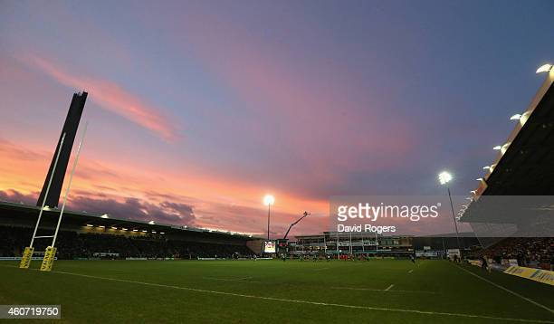 A general view of Franklins' Gardens during the Aviva Premiership match between Northampton Saints and Leicester Tigers at Franklin's Gardens on...