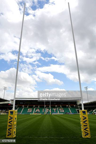 A general view of Franklin's Gardens during the Aviva Premiership match between Northampton Saints and London Welsh at Franklin's Gardens on May 09...