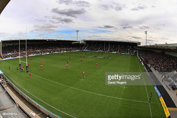 A general view of Franklin's Gardens during the Guinness Premiership match between Northampton Saints and Worcester Warriors at Franklin's Gardens on...