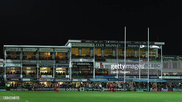 A general view of Franklin's Gardens during the Heineken Cup match between Northampton Saints and Scarlets at Franklin's Gardens on November 18 2011...