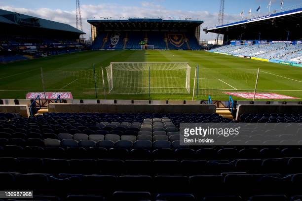 A general view of Fratton Park prior to the npower Championship match between Portsmouth and West Ham United at Fratton Park on January 14 2012 in...