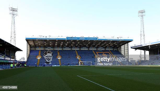 A general view of Fratton Park prior to the Sky Bet League Two match between Portsmouth and Northampton Town at Fratton Park on December 29 2013 in...