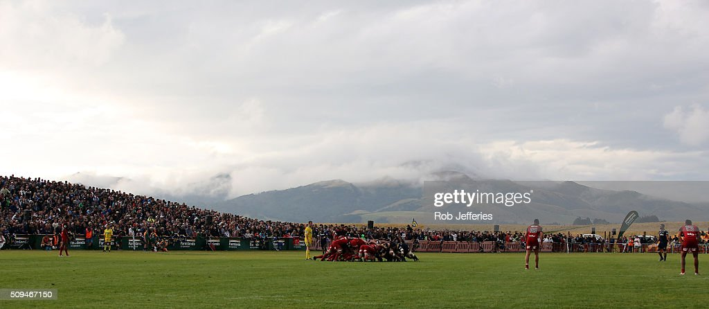 A general view of Fred Booth Park during the Super Rugby trial match between the Highlanders and the Crusaders at Fred Booth Park on February 11, 2016 in Waimumu, New Zealand.