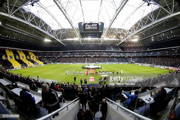 General View of Friends arena before the allsvenskan match between AIK and IFK Goteborg at Friends arena on April 11 2016 in Solna Sweden