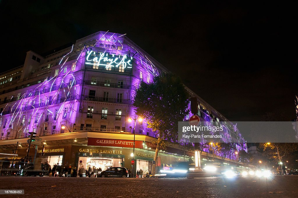 A general view of Galeries Lafayette on November 10, 2013 in Paris, France.