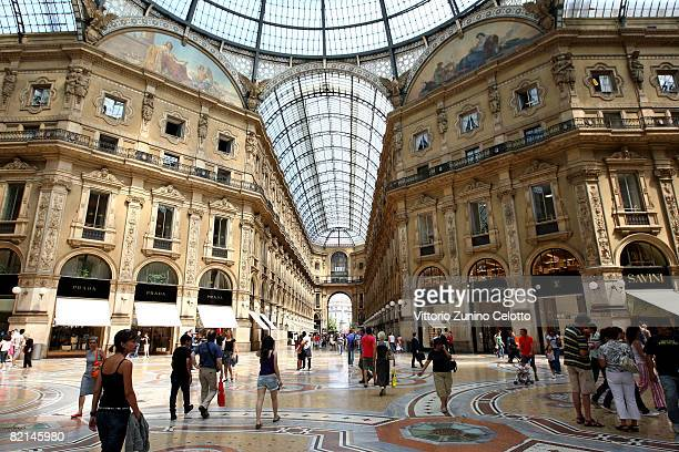 A general view of Galleria Vittorio Emanuele on July 31 2008 in Milan Italy