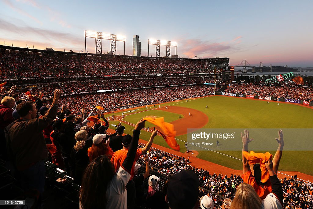 A general view of Game Two of the National League Championship Series between the San Francisco Giants and the St. Louis Cardinals at AT&T Park on October 15, 2012 in San Francisco, California.