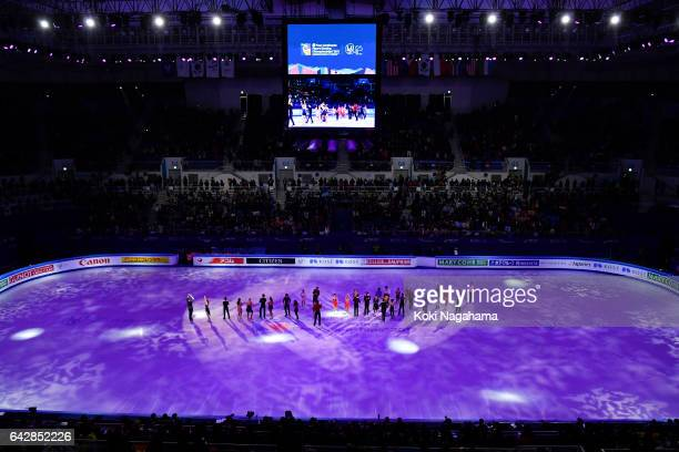 A general view of Gangneung Ice Arena during he Exhibition program in ISU Four Continents Figure Skating Championships Gangneung Test Event For...