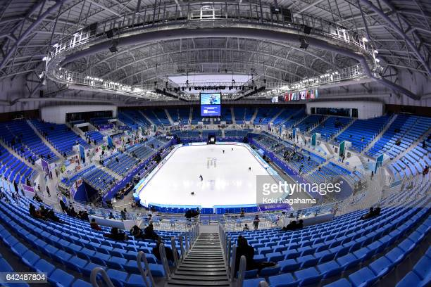 A general view of Gangneung Ice Arena during ISU Four Continents Figure Skating Championships Gangneung Test Event For PyeongChang 2018 at Gangneung...