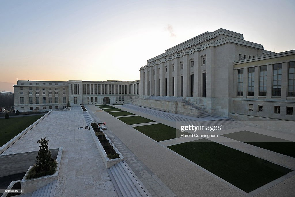 A general view of Geneva's Palais des Nations on January 12, 2012 in Geneva, Switzerland. The European Headquarters of the United Nations, with its oldest sections built between 1929 and 1938 and originally known as the League of Nations, is studying the work requested for the complex restoration to upgrade its infrastructure and lower its carbon footprint while maintaining its historical and cultural value. The work, which would not begin for several years, could cost more than USD 1 billion.