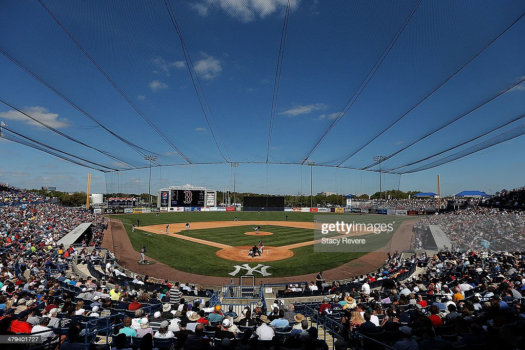 General view of George M. Steinbrenner Field during the sixth inning of a game between the Boston Red Sox and the New York Yankees on March 18, 2014 in Tampa, Florida.