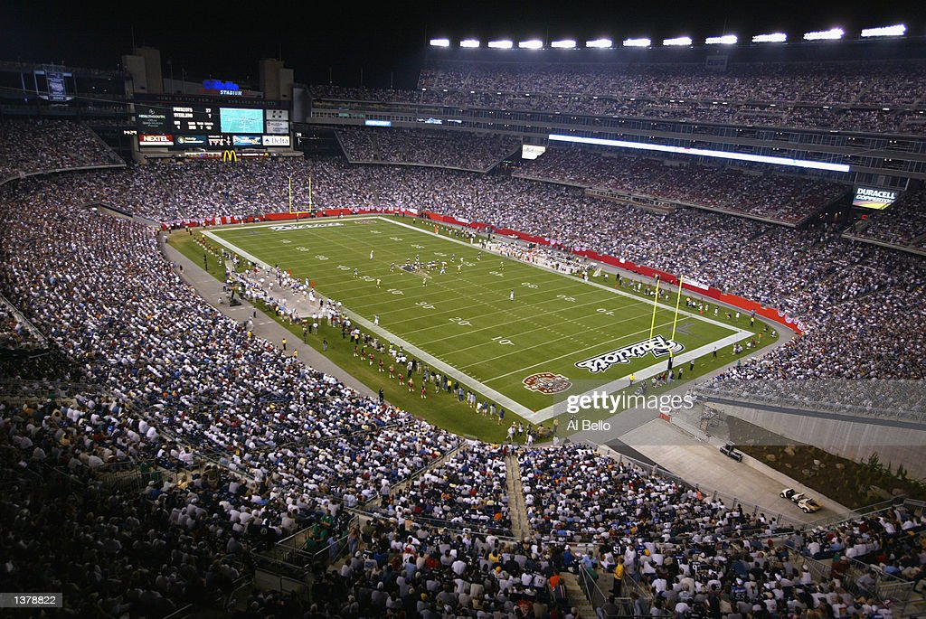General view of Gillette Stadium during the game between the Pittsburgh Steelers and the New England Patriots on September 9 2002 at Gillette Stadium...