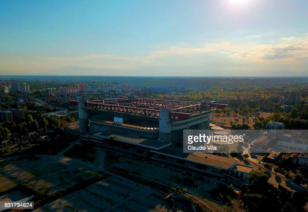 General view of Giuseppe Meazza Stadium on August 14 2017 in Milan Italy