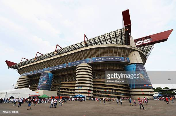 A general view of Giuseppe Meazza stadium prior to the the UEFA Champions League Final match between Real Madrid and Club Atletico de Madrid at...