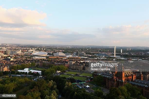 A general view of Glasgow city prior to the 20th Commonwealth Games on July 23 2014 in Glasgow Scotland