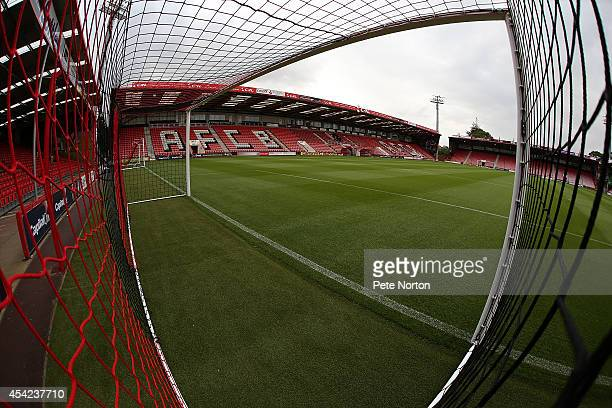 A general view of Goldsands Stadium prior to the Capital One Cup Second Round match between AFC Bournemouth and Northampton Town at Goldsands Stadium...
