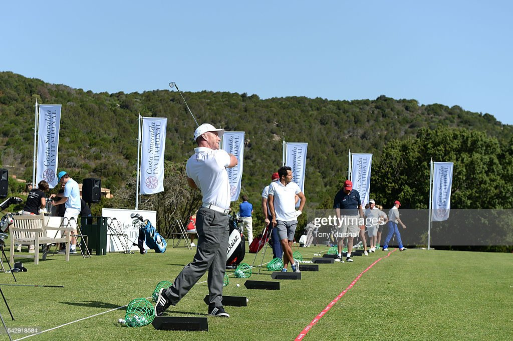 A general view of golf clinic during The Costa Smeralda Invitational golf tournament at Pevero Golf Club - Costa Smeralda on June 25, 2016 in Olbia, Italy.