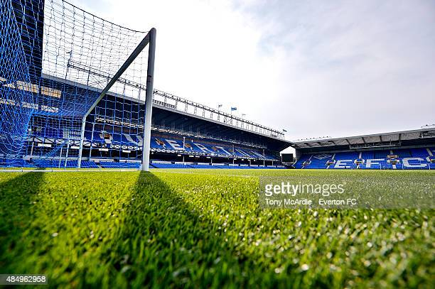 A general view of Goodison Park before the Barclays Premier League match between Everton and Manchester City on August 23 2015 in Liverpool United...