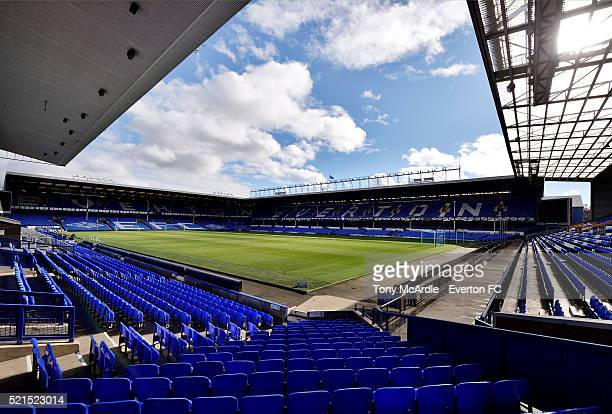 A general view of Goodison Park before the Barclays Premier League match between Everton and Southampton at Goodison Park on April 16 2016 in...