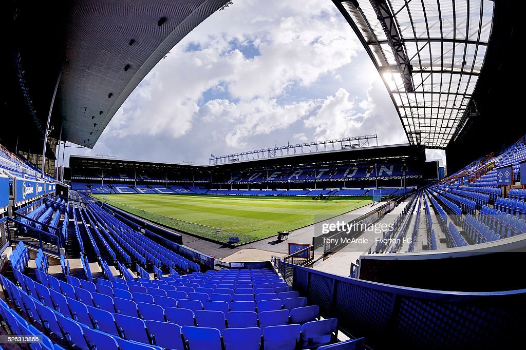 A general view of Goodison Park before the Barclays Premier League match between Everton and A.F.C. Bournemouth at Goodison Park on April 30, 2016 in Liverpool, England.