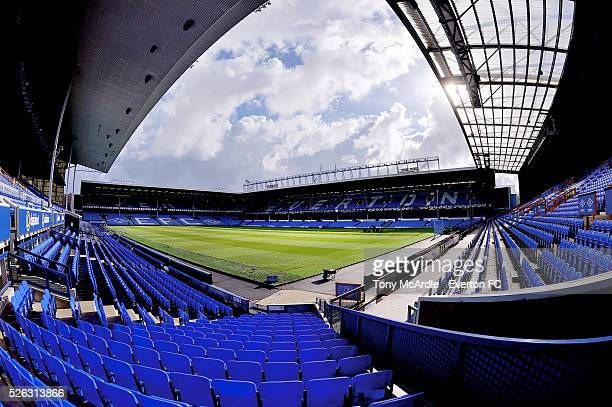 A general view of Goodison Park before the Barclays Premier League match between Everton and AFC Bournemouth at Goodison Park on April 30 2016 in...