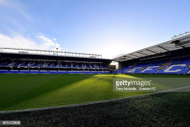 A general view of Goodison Park before the Barclays Premier League match between Everton and Swansea City at Goodison Park on November 19 2016 in...