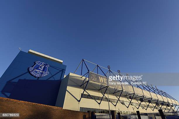 A general view of Goodison Park before the Barclays Premier League match between Everton and Southampton at Goodison Park on January 2 2017 in...