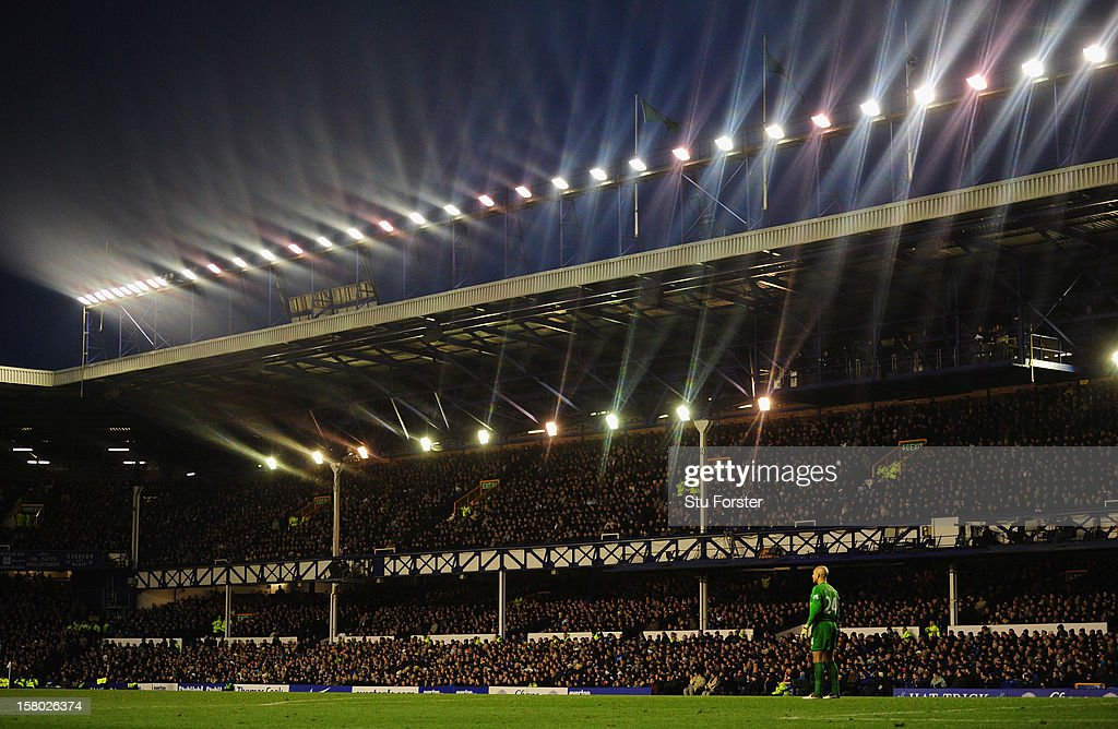 A general view of Goodison Park during the Barclays Premier game between Everton and Tottenham Hotspur at Goodison Park on December 9, 2012 in Liverpool, England.