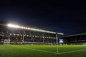 A general view of Goodison Park during the Barclays Premier League match between Everton and Crystal Palace at Goodison Park on April 16 2014 in...