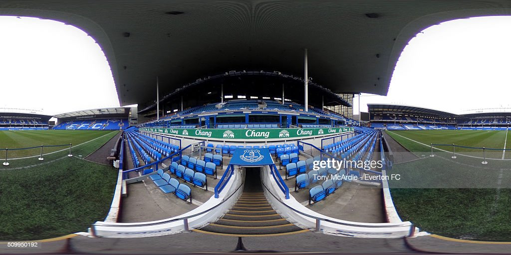 A general view of Goodison Park during the Barclays Premier League match between Everton and West Bromwich Albion at Goodison Park on February 13, 2016 in Liverpool, England.